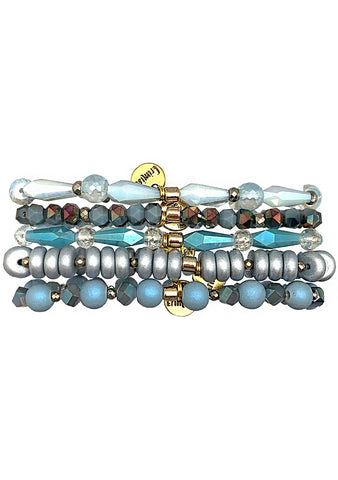 Gypsy Glow Ice Queen Stacked Bracelet