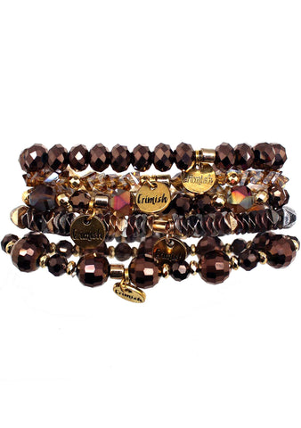 Hot Chocolate Luxe Bracelet Stack
