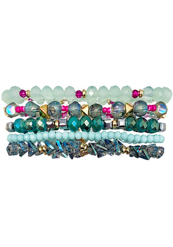 Erimish Into The Sky Bloomin' Cactus Stacked Bracelet