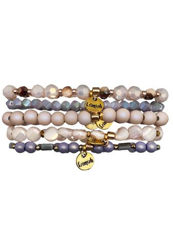Into The Sky French Lavender Stacked Bracelet