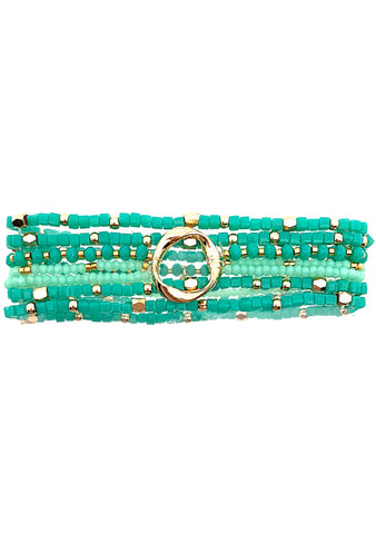Erimish Into The Sky Lost In Jade Stacked Bracelet