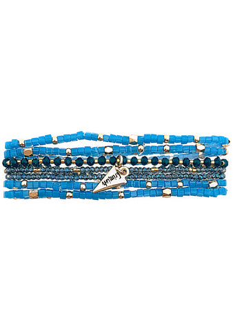 Into The Sky Sapphire Wave Stacked Bracelet