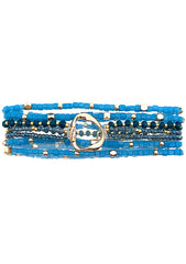 Erimish Into The Sky Sapphire Wave Stacked Bracelet