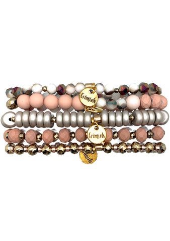 Erimish Into The Sky Terracotta Stacked Bracelet