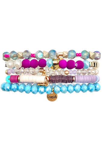 Mermaid Birthday Bracelet Stack