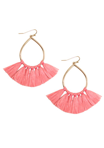 Erimish Paradise Cha Cha Earring in Coral