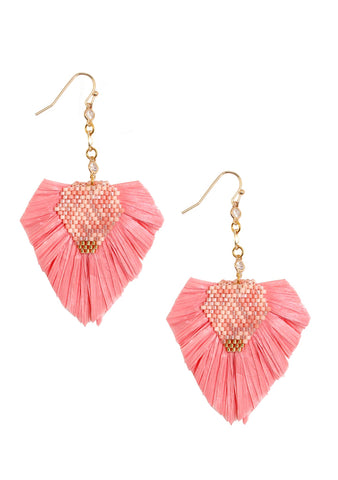 Erimish Paradise Fiesta Earring in Coral