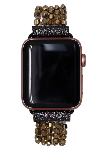 Shine On Apple Watch Bracelet Band in Gold/Black
