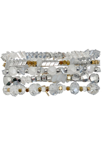 Ice Crystal Diamond Dust Stack Bracelet