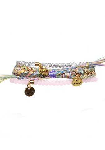 Summer Solstice Beach Please Bracelet Stack