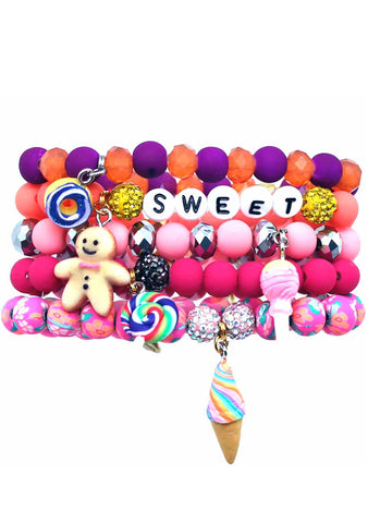 Erimish Sweet Tooth Bracelet Set of 5