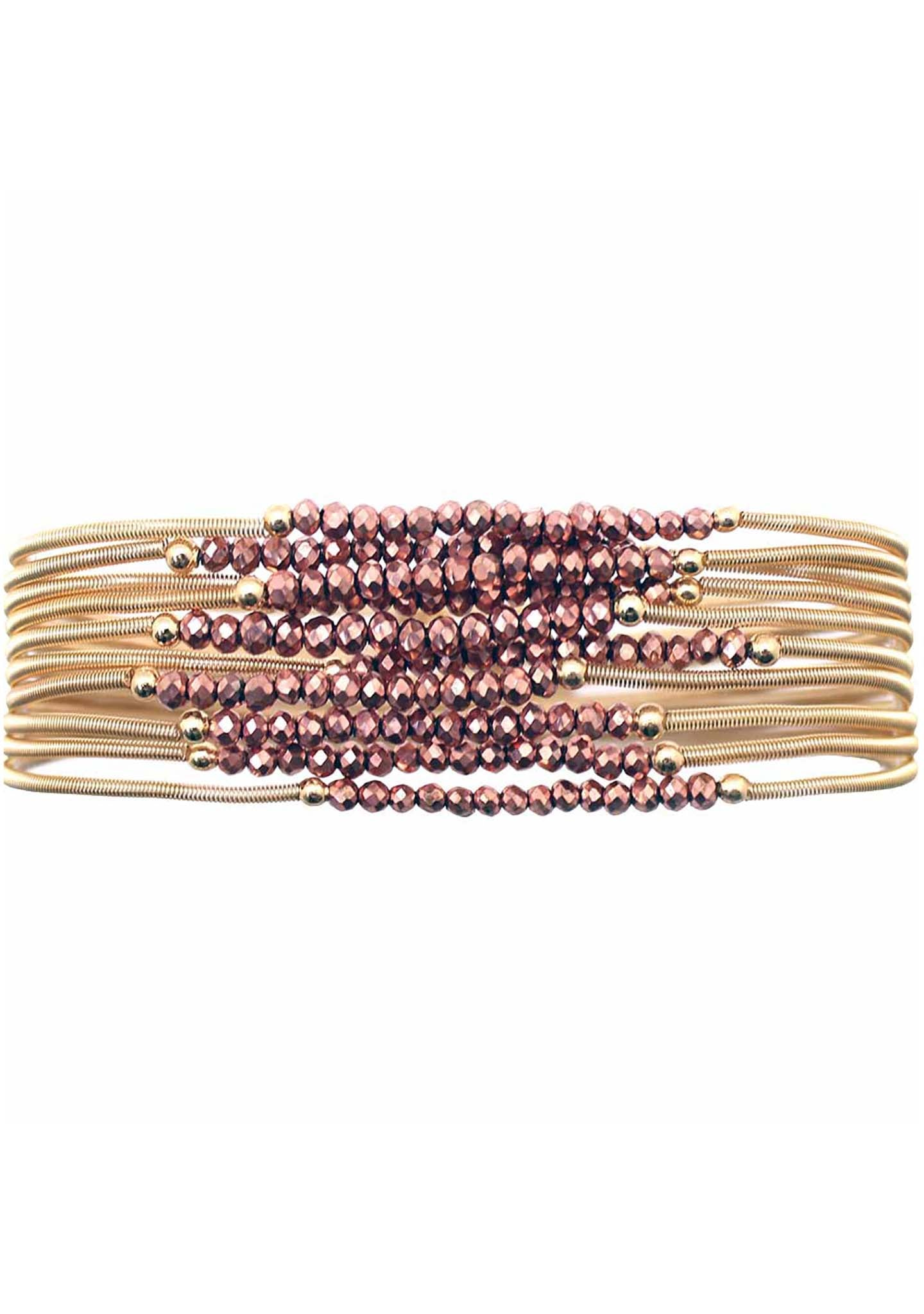 Erimish Gold Wanderlust Bracelet Stack in Rose Gold