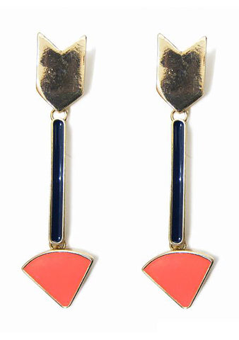 FASHô Enamel Retro Arrow Earring