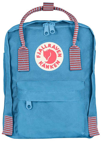 Kanken Mini Backpack in Air Blue Striped