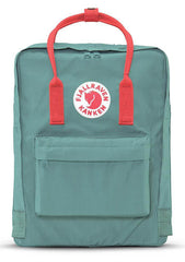 Fjallraven Kanken Backpack in Frost Green/Peach