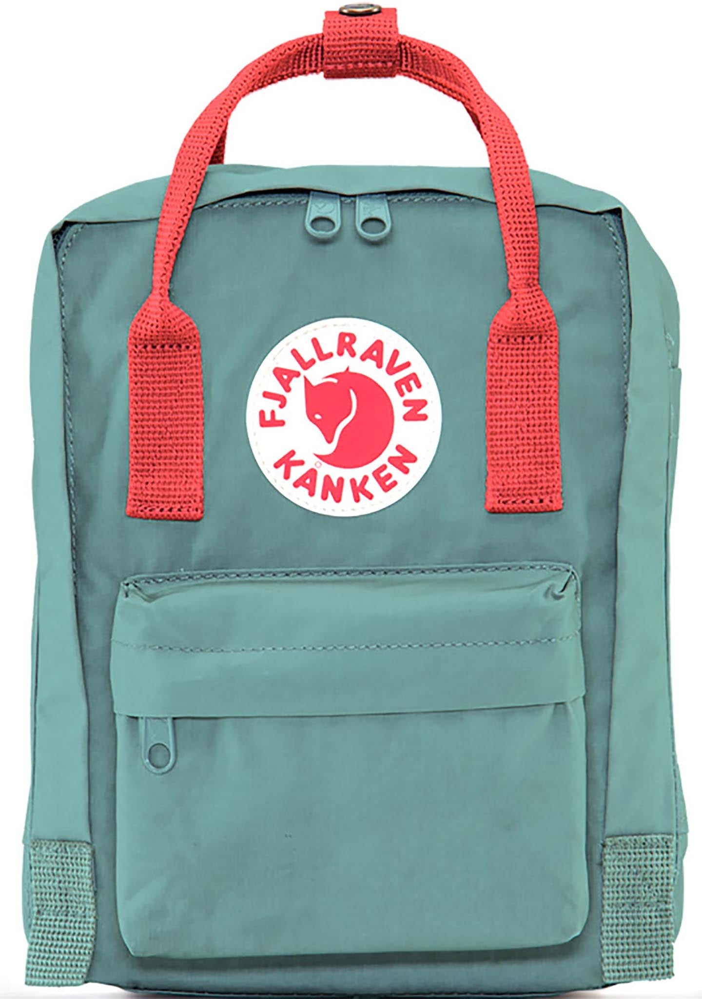 Fjallraven Kanken Mini Backpack in Frost Green/Peach Pink