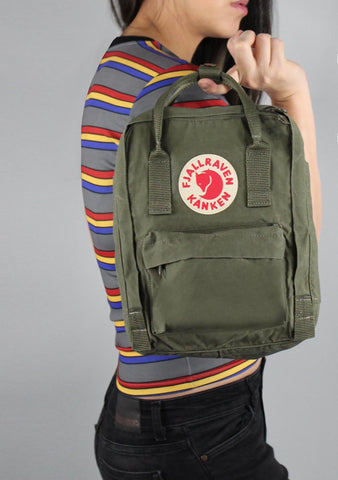 Fjallraven Kanken Mini Backpack in Green