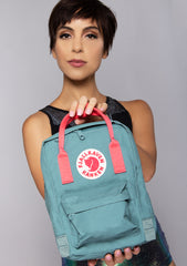 Kanken Mini Backpack in Frost Green/Peach Pink