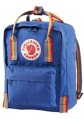 Kanken Rainbow Mini Backpack in Deep Blue Rainbow