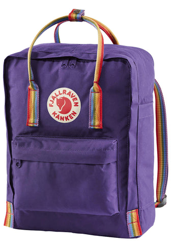 Kanken Rainbow Backpack in Purple Rainbow