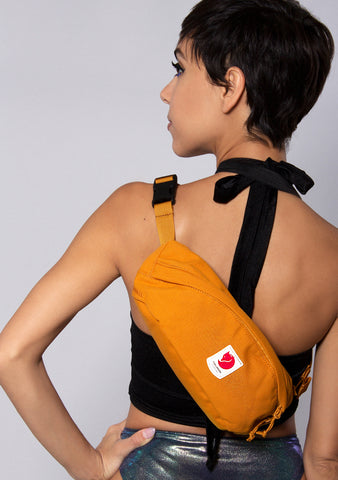 Fjallraven Ulvo Medium Hip Pack in Red Gold