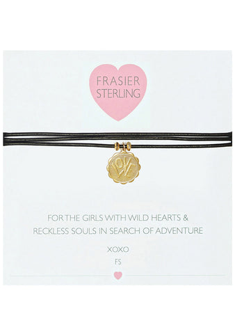 Frasier Sterling 3 Wrap Ranson Choker in Black Love