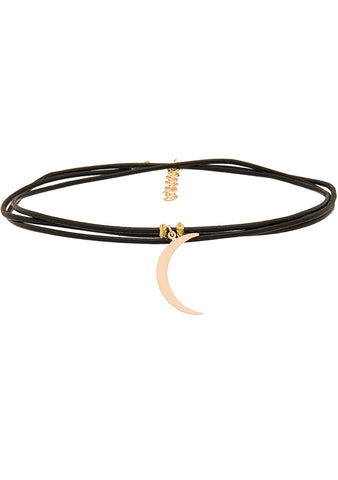 Frasier Sterling 3 Wrap Ransom Choker in Black Moon