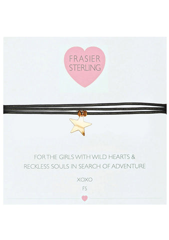 Frasier Sterling 3 Wrap Ranson Choker in Black Star