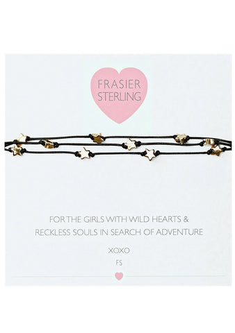 Frasier Sterling Desert Flower Choker in Black Stardust