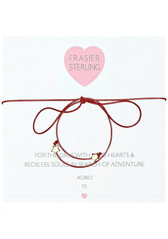 Frasier Sterling Disco Fever Bowtie Stars Choker in Red