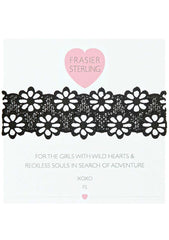 Frasier Sterling Lacey Daisy Choker in Black