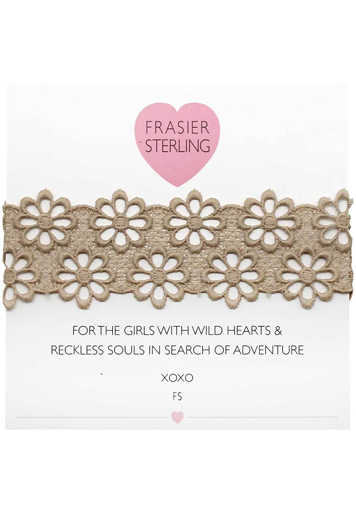 Frasier Sterling Lacey Daisy Choker in Tan