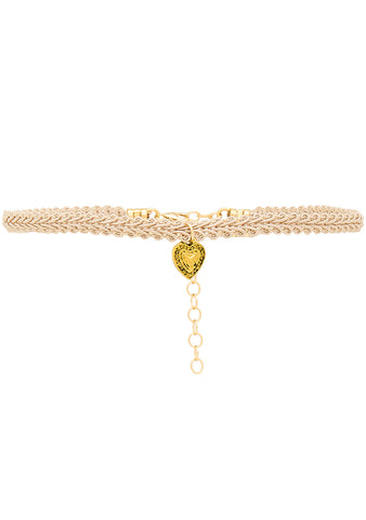 Frasier Sterling Nothing But Love Choker in Taupe Heart