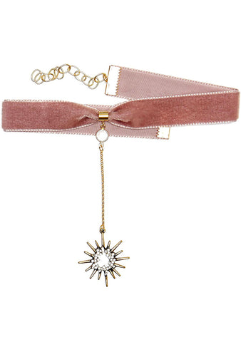 Frasier Sterling Saturday Night Fever Starburst Choker in Blush