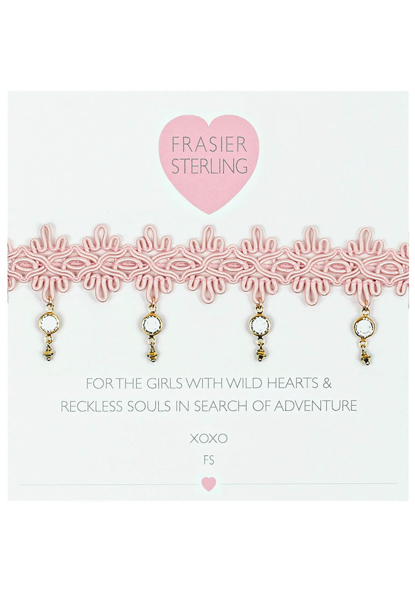Frasier Sterling Zeppelin Crystal Choker in Pink