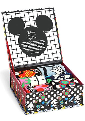 X Disney Mickey and Minnie 6PK Sock Gift Set