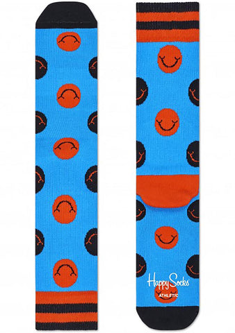 Happy Socks Smile Socks in Blue/Orange