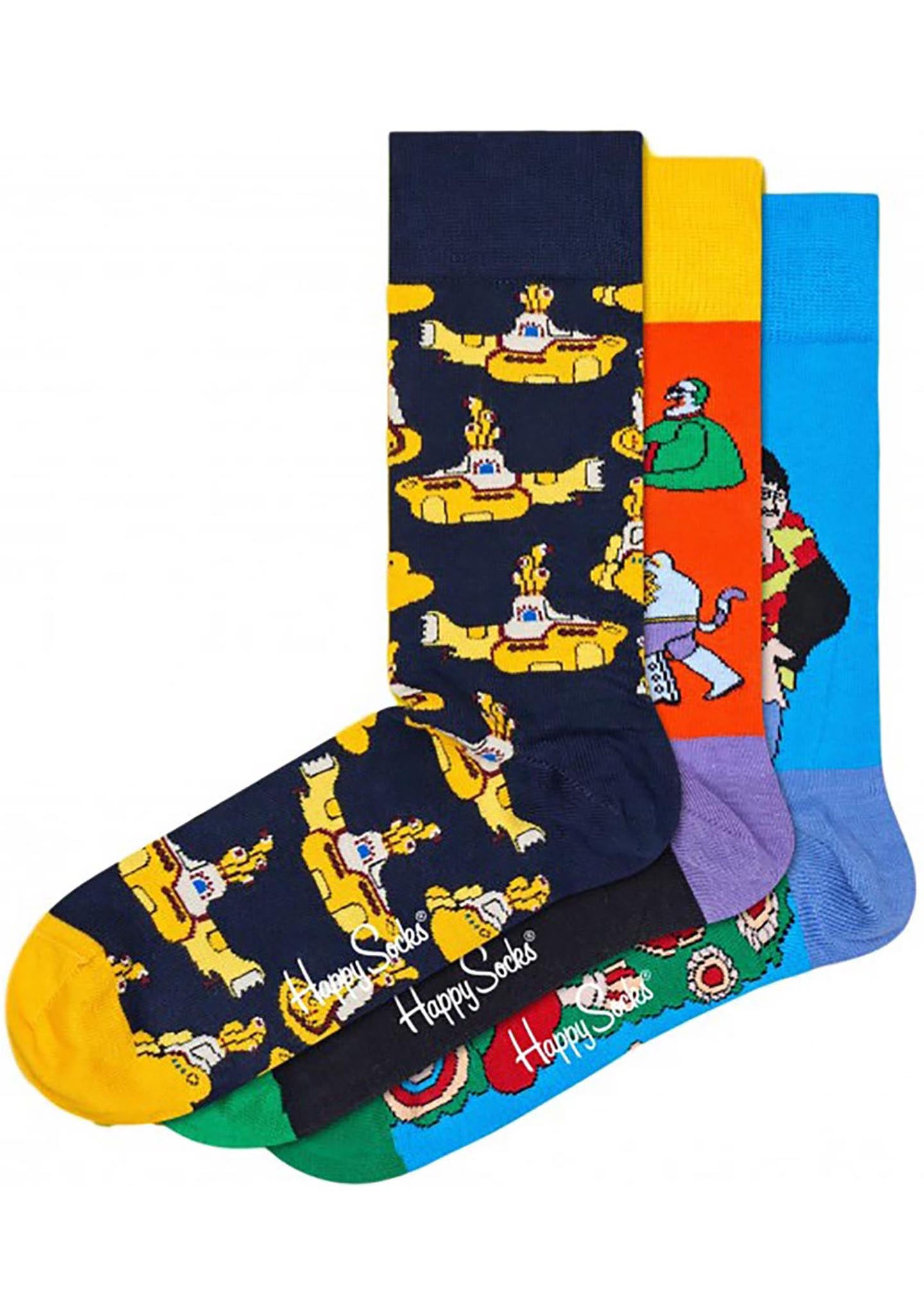Happy Socks Limited Edition Beatles 3pk Gift Set