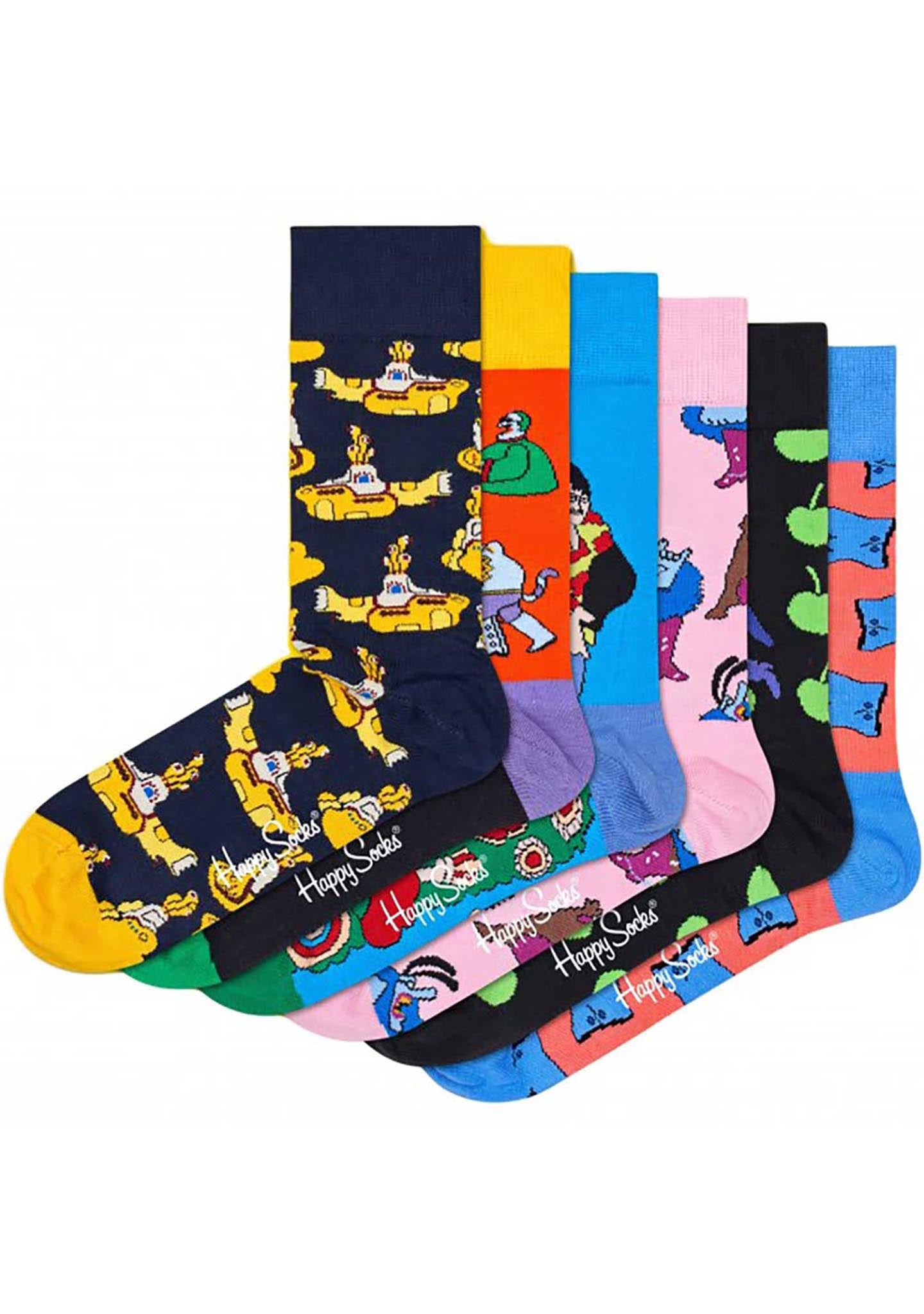 Happy Socks Limited Edition Beatles 6pk Gift Set