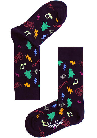 Happy Socks Navy/Purple Women's Rockin Socks