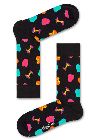Happy Socks Apple Socks in Black