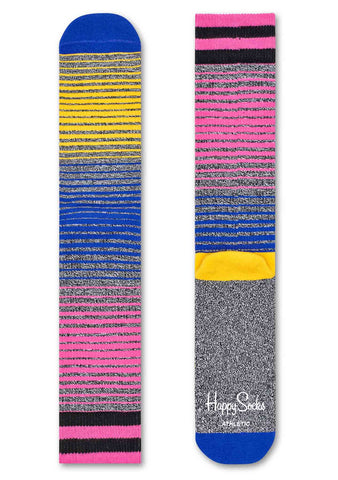 Happy Socks Athletic Sunrise Socks in Grey