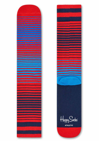 Happy Socks Athletic Sunrise Socks in Red/Blue