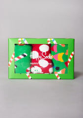 Deck The Halls 3PK Socks Gift Box Set