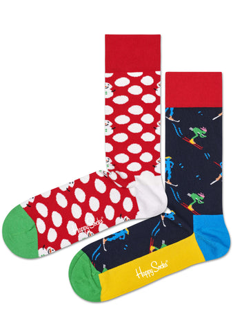 Let It Snow 2PK Socks Gift Box Set
