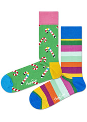 Candy Cane Lane 2PK Socks Gift Box Set