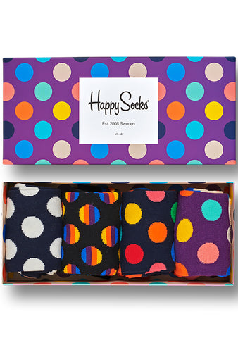 Happy Socks Dot Men's Sock 4PK Gift Set