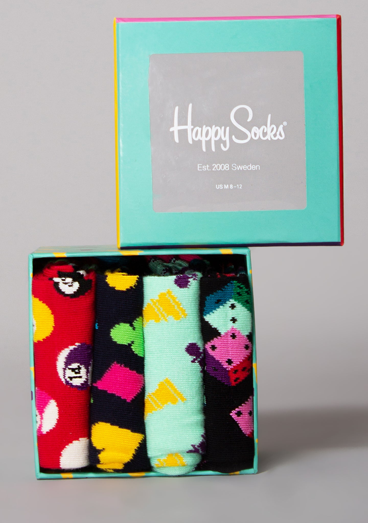 Game Night 4PK Socks Gift Set
