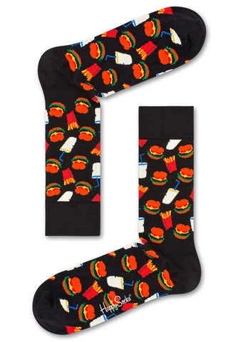 Hamburger Socks in Black