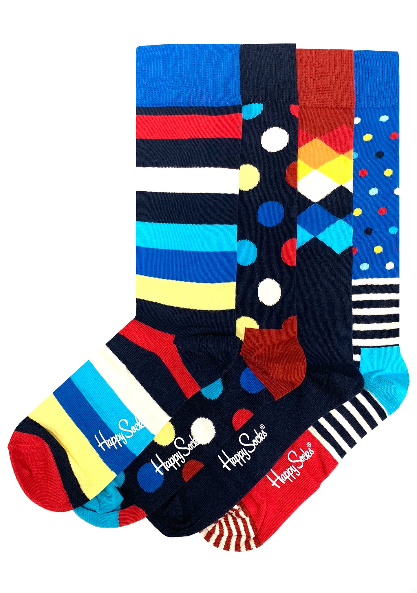 Holiday Stripe Men's Sock 4PK Gift Set